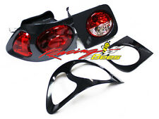 96-00 Honda Civic 2D coupe Tail Light carbon and black 1 set (left and right)