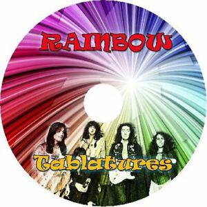 RAINBOW BASS & GUITAR TAB CD TABLATURE GREATEST HITS BEST OF ROCK MUSIC AUDIO