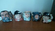 "5 Royal Doulton Toby Jugs All Under 4"" No Chips Or Cracks"