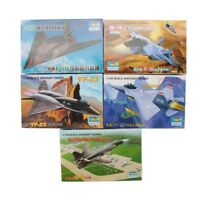 Trumpeter 5PCS 1:144 Aircraft Fighter Plastic Military Model Assemble Kit