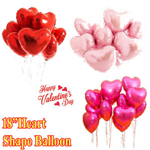 Happy Valentine's Day Foil balloons Red Heart I Love You Wedding  baloons party