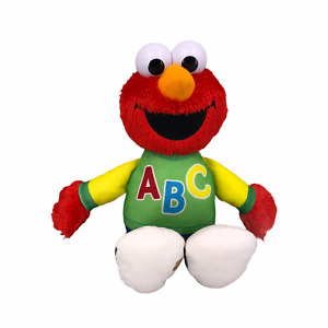 "Sesame Street Talking Singing Elmo 12"" Plush ABC Stuffed Animal Hasbro Tested"