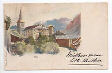 SUISSE SWITZERLAND Canton du VALAIS VIEGE carte illustrateur 1900