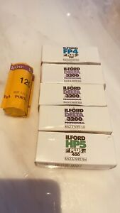 6 Rolls Of 120 Film - Ilford HP5,  FP4, Delta 3200 Black and White, Portra 160VC
