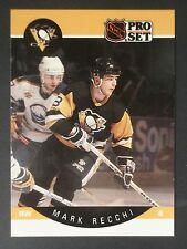 1990-91 Pro Set #239 Mark Recchi ROOKIE Pittsburgh Penguins Hall of Fame Mint