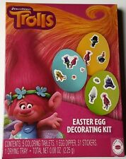 NEW Dreamworks Trolls Easter Egg Decorating Kit And Stickers FREE WORLD SHIPPING
