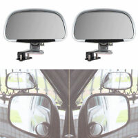 2x Car Vehicle Blind Spot Square Side Rear View Mirror Wide Angle Mirrors Silver