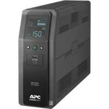 APC UPS Pro BR 1500va Sinewave 10 Outlets 2 USB Charging Ports AVR LCD
