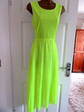NEW.W.O.T FABULOUS LUMINOUS  BEACH DRESS BY COLLECTION LONDON  UK-14 BUST 40""