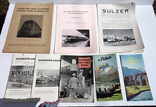 Lot of Old Railway Paper Brochures/Magazines, Switzerland, 1930's & 1950's