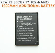 Rewire Security TK102 102nano GPS Tracker Battery 3.7v 1000mah li-ion BL-5B BL5B