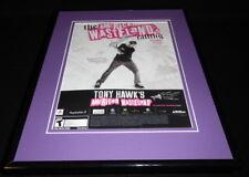 Tony Hawk's American Wasteland PS2 2005 Framed 11x14 ORIGINAL Advertisement
