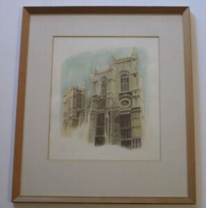 DOUGLAS GORSLINE PAINTING LISTED AMERICAN NEW YORK REGIONALISM ARCHITECTURAL VTG