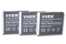 3x BATERÍA para CANON POWERSHOT D10 SX270 HS SX500 IS SD770 es ACCU
