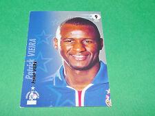 PATRICK VIEIRA EQUIPE FRANCE BLEUS PANINI FOOTBALL CARD 2002