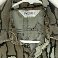 Five Brother Mens Flannel Shirt LS Camouflage Large