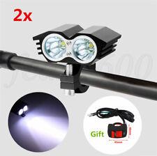 Universal 2Pcs 20W CNC Motorcycle LED Spot Driving Headlight Fog Lamp w/ Switch