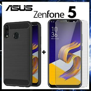 For ASUS ZENFONE 5 ZE620KL Cover Carbon Shockproof + Film Tempered Glass