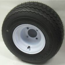 18x8.50-8 Golf Cart Tire and White Wheel - Kenda Hole In One EzGo Club Car DS