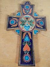 Céramique Vintage 80 Rare Gde Croix Signée JC-Taburet Atelier du Steir QUIMPER