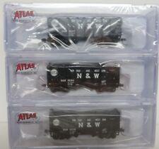 Atlas-N  N&W 2-Bay Fishbelly Hopper Cars (3 Car Set/3 Car #'s) NIB