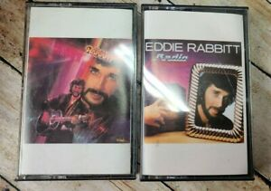 Eddie Rabbitt lot of 2 Cassettes - Radio Romance & Greatest Hits Volume 2