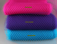 Birdcage Veil, Wedding Veil, Pink Veil, Coral, Orange, Net, Bridal, Trim Hat