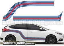 Ford Martini side racing stripes 006 vinyl graphics stickers Focus Fiesta Ka