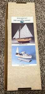 """The Laughing Whale """"Yacht America"""" Balsa Wood Model Boat Kit with Drawings~1983"""