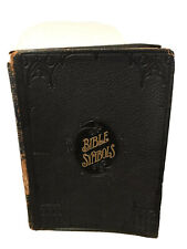 Bible Symbols by Frank Beard black Leather bound Antique 1908 gold pages
