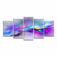Modern Abstract Canvas Prints Painting Pictures Wall Art Home Decor Purple Color