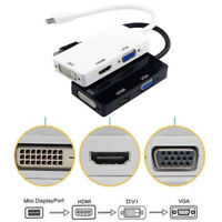 New Thunderbolt Mini Display Port DP To HDMI DVI VGA Adapter Cable For apple
