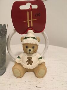 Harrods 2021 Christmas Resin Bear Angus
