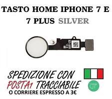 FLAT TASTO HOME PER IPHONE 7 E 7 PLUS GRIGIO SILVER