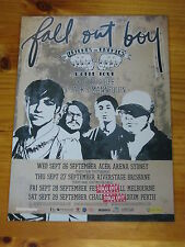 FALL OUT BOY - 2007  Australian Tour - Laminated Promo Tour Poster