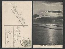 1912 LITTORAL BELGE COUCHER de SOLEIL BELGIUM POSTCARD