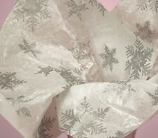 Pearl Silver Snowflake ~ Christmas Tissue Paper # 783 ~ 10 Large Sheets