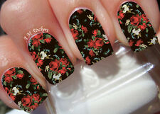 Red Roses A1028 Nail Art Stickers Transfers Decals Set of 22