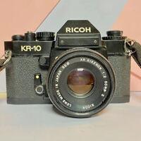 Ricoh KR 10 35mm SLR Film Camera + 1:2 50mm Lens Working Lomo! Retro!