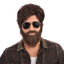 Alan Hangover Wig & Beard Film Stag Do Fancy Dress Mens Costume Accessory