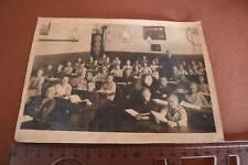 tolles altes Klassenfoto - Schulklasse - gemischte Schule  Klassenraum 1910-30 ?