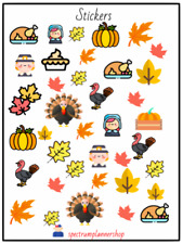 Thanksgiving Stickers, Planner stickers, Decoration, crafting and more stickers