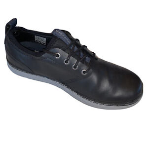 Mens Sketchers Oxfords Classic Fit Heston 65877 Black Leather Loafer Shoes 8.5