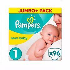 PAMPERS taglia 1 protezione di prima qualità Nuovo Bambino Jumbo + PACK 96 Pannolini
