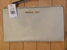 Michael Kors Clutch Jet Set Zip 38S9XTTC3L Black Leather Wristlet