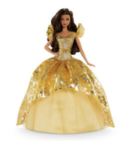 """HOLIDAY BARBIE 12"""" Doll Brunette Signature Collection NEW 2020 Golden Gown"""