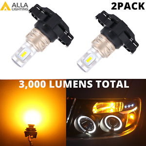 LED Amber Front Turn Signal Light Bulbs for Ford Alfa Romeo Jeep Volvo,Blinker
