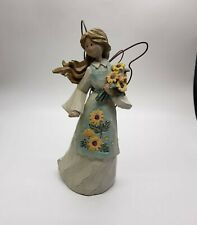 "Willow Tree Figurine 7.25"" Angel Sunflower Ganz"