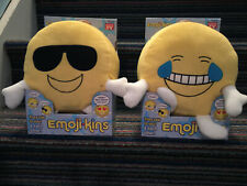 Emojikins Laughster and Cool Cat Pillows They Talk to You & Each Other