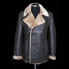 Abrigos y chaquetas de hombre militares marrón de piel
